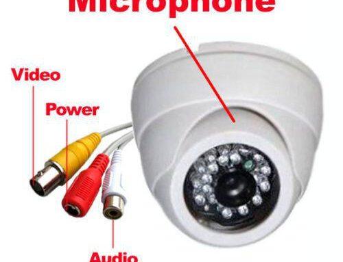 Cámaras con escucha de audio… ¿ilegal?
